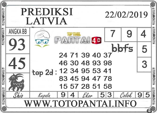 """Prediksi Togel """"LATVIA"""" PANTAI4D 22 FEBRUARI 2019"""