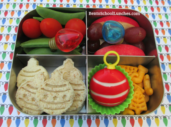 Christmas Ornaments, bento school lunch