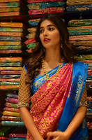 Puja Hegde looks stunning in Red saree at launch of Anutex shopping mall ~ Celebrities Galleries 038.JPG