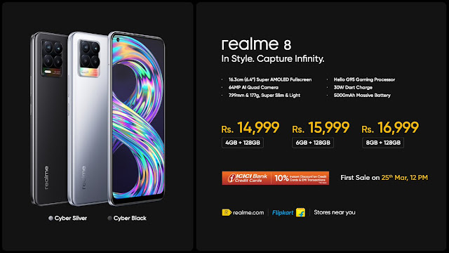 Realme 8 launched along with Realme 8 Pro, Realme SmartScale, and Realme SmartBulb - Features and Price | TechNeg