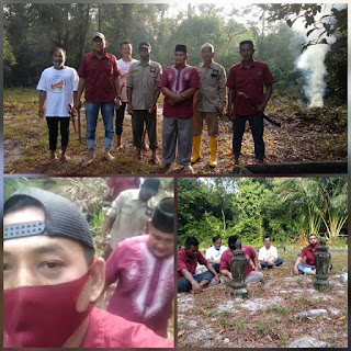Ketua Melayu Raya  Kecamatan Lingga Pimpin Langsung kegiatan Goro di pemakaman Desa Nerekeh