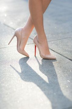 Christian Louboutin Decollete 554 Nude Patent - Reed Fashion Blog 8d3744f29