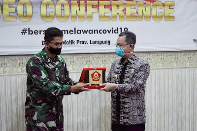 Sekdaprov Lampung Hadiri Penyampaian Executive Summary KKDN Perwira Siswa Dikreg Sesko TNI Tahun 2020