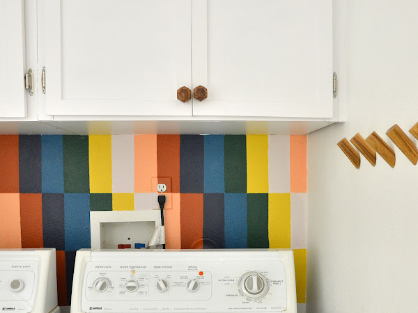 Easy Laundry Room Mural - How to Paint Faux Tile