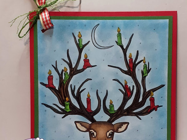 Christmas Gift Tag Featuring Yule Stag