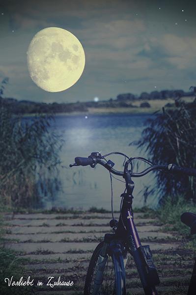 2in1 Photoday: Noch ein wenig Bildbearbeitung und die Nachtszene mit dem riesengroßen Mond ist fertig