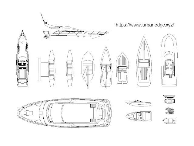 Boats and yachts cad blocks download - 15+ dwg models