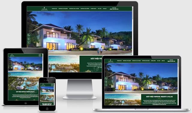 Template blogspot bất động sản bán biệt thự