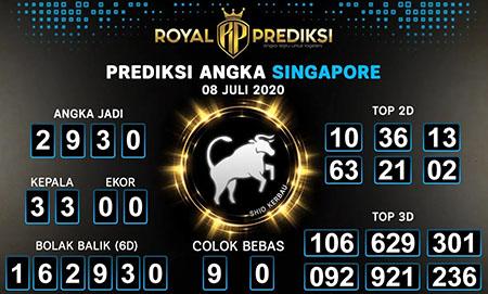 Royal Prediksi Togel Singapura Rabu 08 Juli 2020