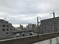 Vistas desde el apartamento de las vías del Shinkansen