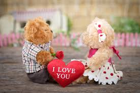 This is a love relationship teddy sign pic