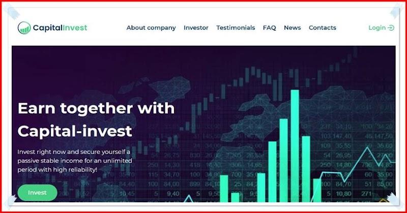 Мошеннический сайт capital-invest.link – Отзывы, развод, платит или лохотрон? Мошенники