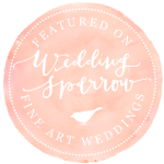 Featured on Wedding Sparrow Blog
