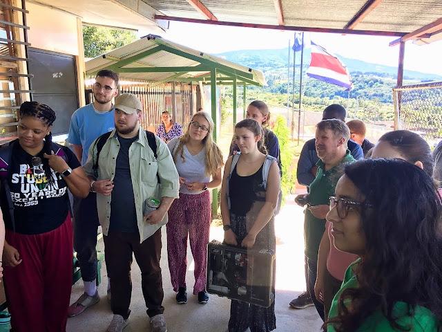 widener students meet before service costa rica ecoguardianes ade
