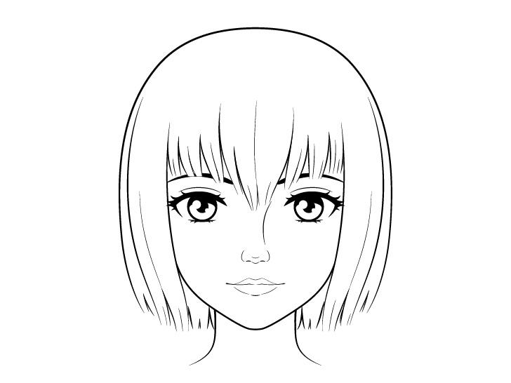Gambar wajah anime yang realistis