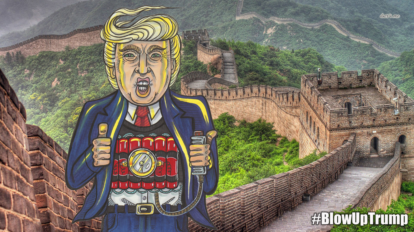 You think the Donald doesnu0027t like China because of that big fancy wall they got? Size matters. If canu0027t build his he may have to pay a visit to theirs!  sc 1 st  Brandt Hardin & DREGstudios! The Artwork of Brandt Hardin: Now Itu0027s Time to Play ...