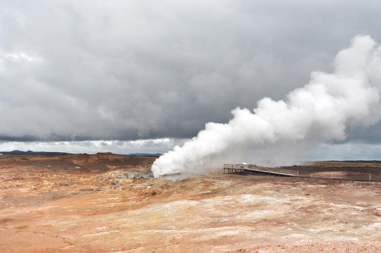 Source chaude de Gunnuhver - voyage en Islande