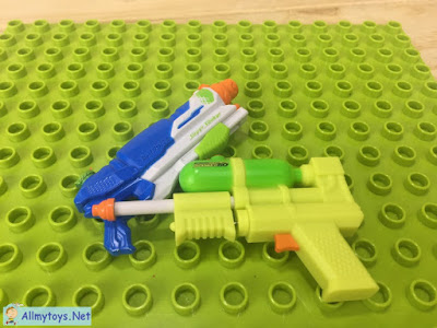 World smallest water blaster and Nerf Super Soaker 2