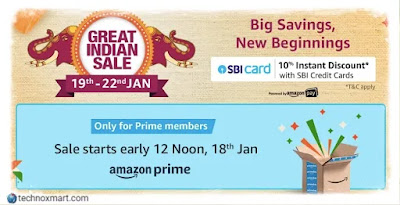 Amazon Great Indian Sale: From January 19 - Check Offer