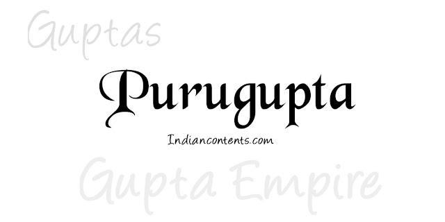 Purugupta - Fourth Successor King After Samudragupta