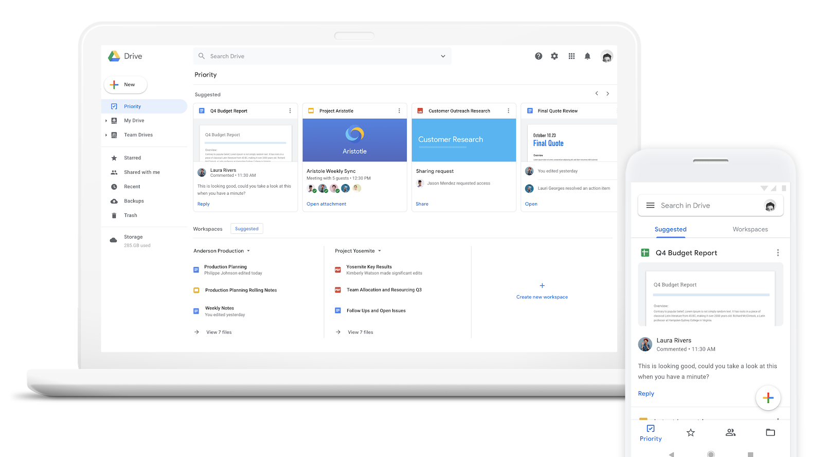 G Suite Updates Blog: New intelligent file suggestions and