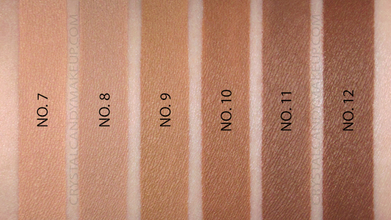 Benefit Boi-Ing Cakeless Concealer Swatches 7 8 9 10 11 12 MAC NW40 NW42 NW45 NW50 NC45
