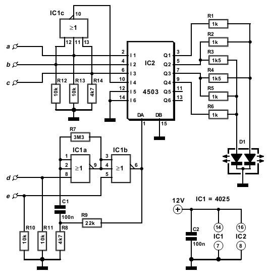 simple multicolor ledcircuit diagram