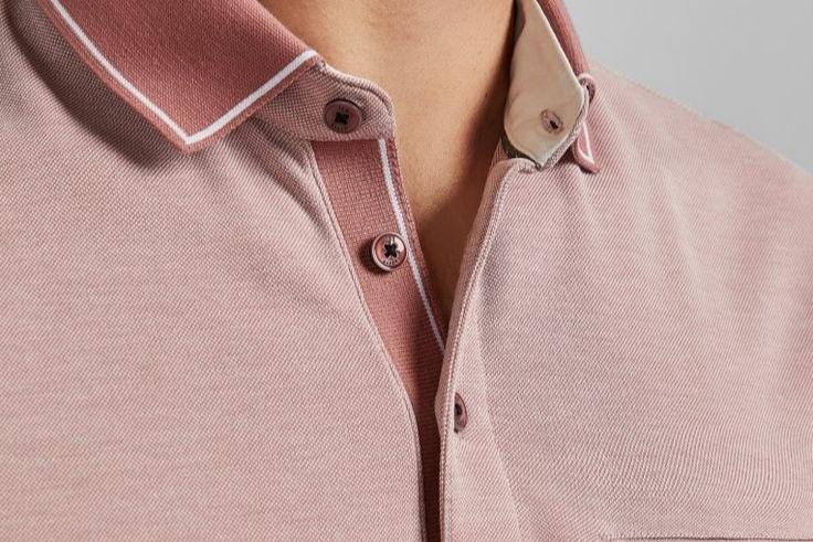 Shown button of a polo t-shirt.