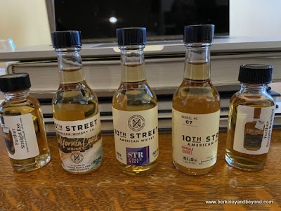 spirits line up for whisky tasting with The Whisky Shop in San Francisco