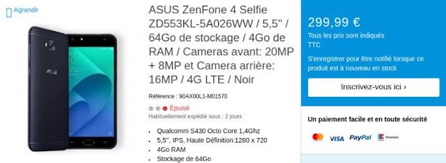 Asus lộ hàng 4 mẫu điện thoại Zenfone mới trên website của hãng