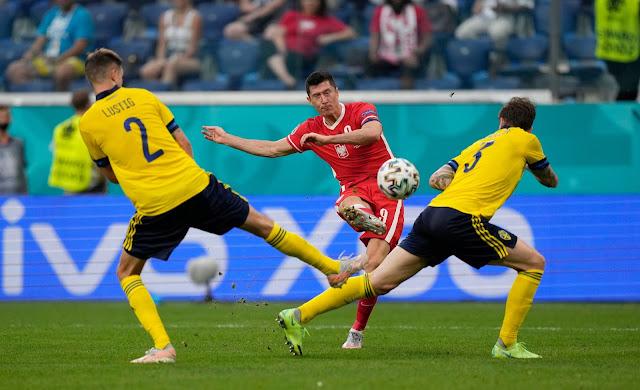 Poland forward Robert Lewandowski Euro 2020