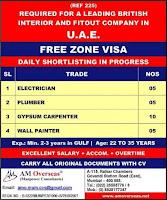 British Interior Free Zone Visa UAE
