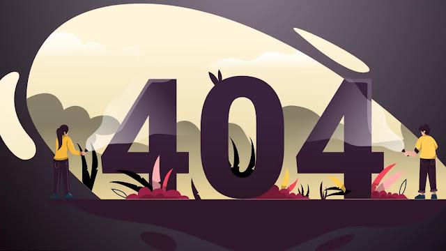 Creative 404 Error Page Design