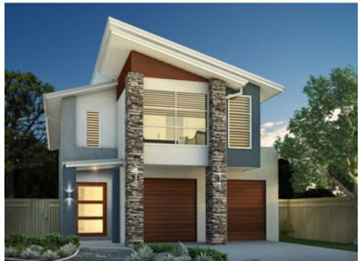 double storey house facades in modern style