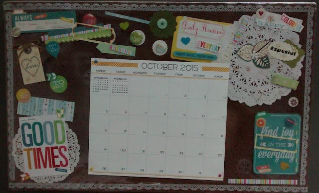 Mural para calendário - SCRAPDECOR