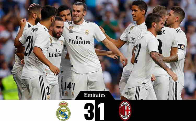 Hasil Real Madrid vs AC Milan Skor Akhir 3-1 [Santiago Bernabeu Trophy 2018]