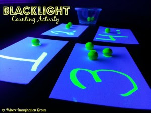 Black light number activity