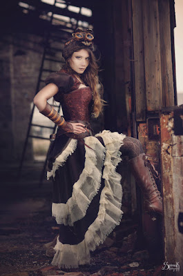 Tiered Skirts and dresses are a style of steampunk skirt. From the victorian era ruffled and tiered petticoats.