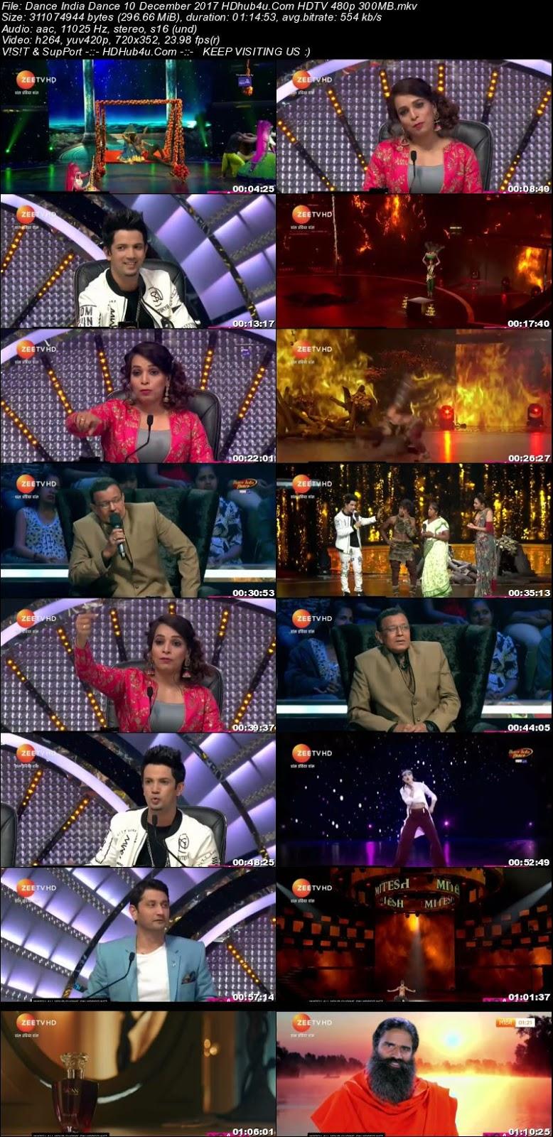 Dance India Dance 10th December 2017 480p HDTV 300MB Download
