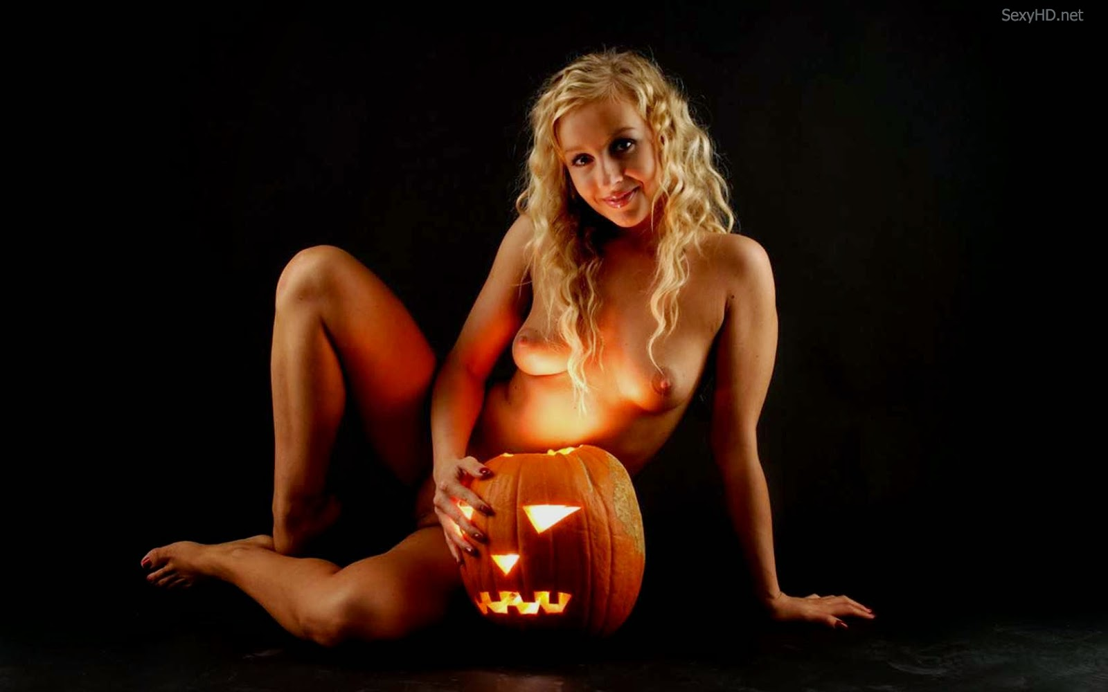 Naked girl at halloween your