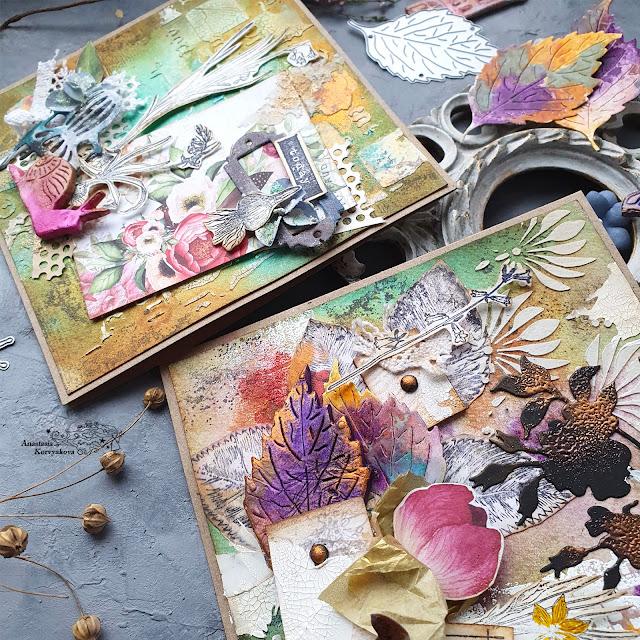 @nastyalena #cardmaking #scrapbookingdies #mixedmedia