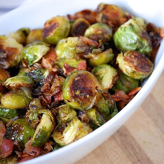 Perfectly Roasted Brussels Sprouts with Bacon #recipes #dinnerrecipes #quickdinnerrecipes #easydinnerrecipes #goodquickandeasydinnerrecipes #food #foodporn #healthy #yummy #instafood #foodie #delicious #dinner #breakfast #dessert #lunch #vegan #cake #eatclean #homemade #diet #healthyfood #cleaneating #foodstagram