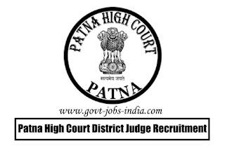 Patna High Court District Judge Recruitment 2020