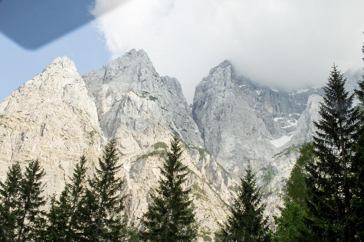 Prisojnik von der Nordseite des Vrsic Pass