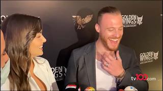 Hande Ercel and Kerem Bursin interview at Golden Wings Award in English