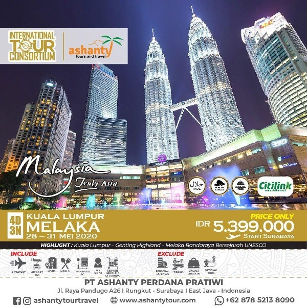 paket tour malaysia 4 hari 3 malam dari surabaya
