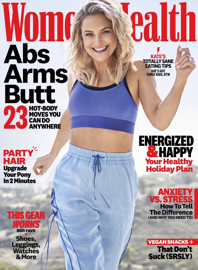 Kate Hudson flaunts toned body for Women's Health Magazine