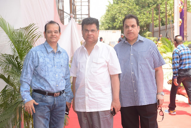 15. Champak Jain with Kumar Taurani  and Ramesh Taurani during Mahurat ceremony  of the film GENIUS