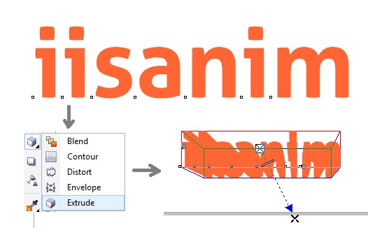 Tutorial coreldraw membuat teks 3d - iisanim-child