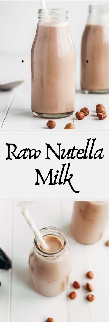Raw Nutella Milk #cocktail #smoothie